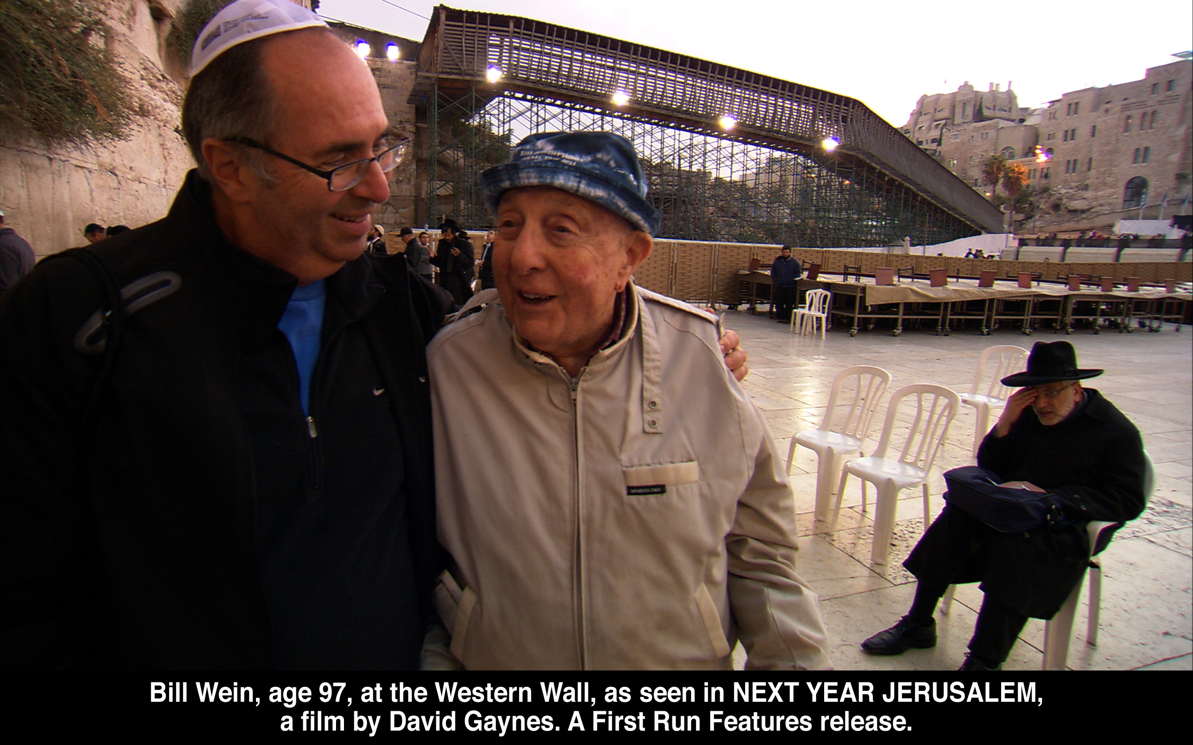 Bill Wein (97) at the Western Wall, as seen in Next Year Jerusalem, a film by David   Gaynes.